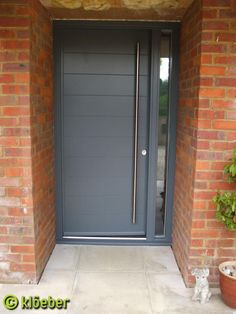 Modern front door Kloeber Funkyfront. See the Euro range which offers standard measurements for better value for money.