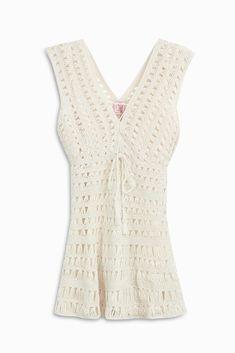 ANNA KOSTUROVA CROCHET MINI DRESS. #annakosturova #cloth #