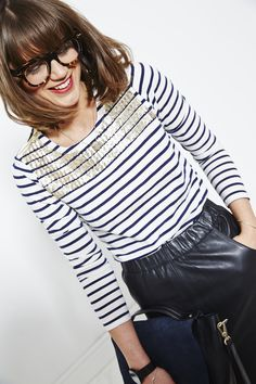 We have a confession to make… Here at Boden HQ we're a little bit obsessed with Breton stripes. So we're thrilled our design team has given us a sparkly new excuse to add to our (ever-expanding) collection. Here to provide inspiration on how to wear the re-invented icon is our in-house Stylist, Sarah Corbett-Winder. Stripes and sequins? It's a match made in sartorial heaven… Click through for more. #NewBritish