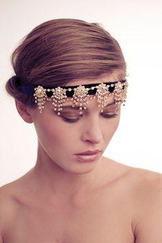 1920's Art Deco Crystal Chandelier Headband