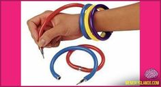 All the cool kids had these - and they never wrote well! BraceletPens