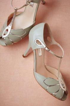 Mint Mimosa T-Strap Heels | BHLDN