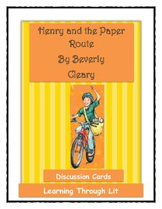 * Higher-order questions from each chapter to guide and encourage discussions* Perfect for guided reading, partner/group discussions, literature circles, book clubs, interactive notebooks, writing prompts, differentiated instruction, and speaking and listening skills.Laminate cards, cut out and staple at top, insert in library pocket inside book cover for discussions or photocopy for students to make interactive notebooks.