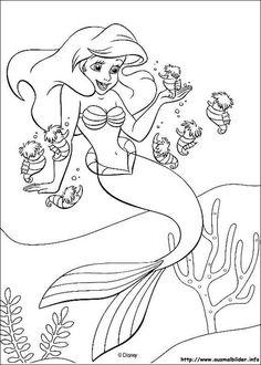 Ausmalbilder Meerjungfrau