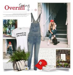 """""""Spring Overall"""" by thewondersoffashion ❤ liked on Polyvore featuring Free People, Topshop, Jérôme Dreyfuss and Converse"""