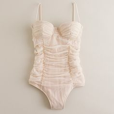 This suit made me tear up a little its so drop dead beautiful. a mermaid's wedding swimsuit.