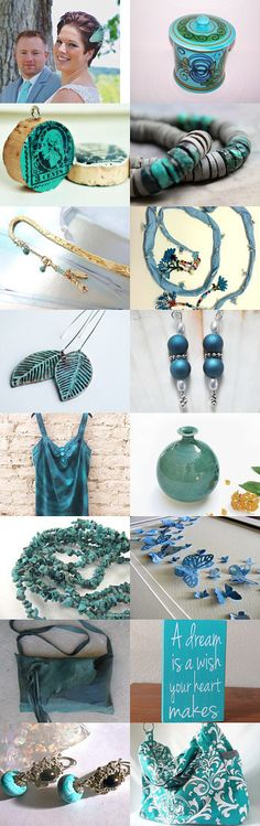 Turquoise Treasures by Cassie on Etsy--Pinned with TreasuryPin.com