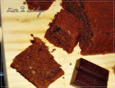 Tarta de calabaza: Bizcocho de chocolate tipo brownie