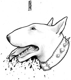 Pit Bull Terrier Dog Training: Lessons From An Expert - Champion Dogs English Bull Terriers, Bull Terrier Dog, Dog Tattoos, Body Art Tattoos, Bullterrier Tattoo, Desenhos Old School, Old School Tattoo Designs, Black And White Tree, Dog Art