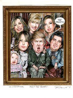 "Drew Friedman :: ""Meet the Trumps"", The New York Observer (2006)"