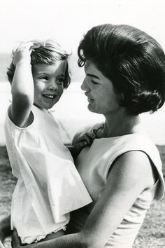 Caroline and her mother, First Lady Mrs. Kennedy.
