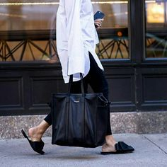 "Editorialist Magazine ( latest renditions to bedroom slides bring an elevated look to a simple style. Between satin…"" Casual Outfits, Fashion Outfits, Womens Fashion, Fashion Trends, Ootd Fashion, Office Fashion, Daily Fashion, Street Chic, Street Style"