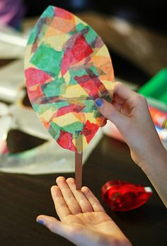 My girls love decorating the windows around our house. They are a perfect canvas for all kinds of sun catcher projects. We often make things with clear Contact paper, but this time we made beautiful stained-glass leaves with wax paper… Continue Reading → Fall Preschool, Kindergarten Crafts, Preschool Crafts, Montessori Preschool, Fall Projects, Projects For Kids, Crafts For Kids, Craft Projects, Diy Wax