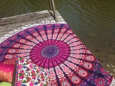 Pink Mandala Feather Roundie Beach Throw Bedspread Wall Hanging – TheNanoDesigns