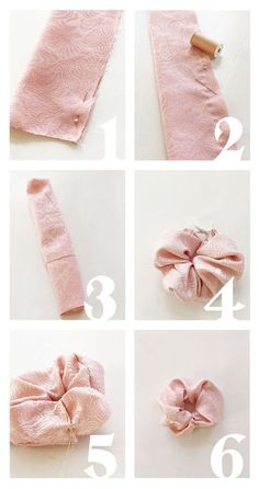 But how? - Make your own scrunchies - Katherine Ossandon - But how? - Make your own scrunchies DIY But how? - Make your own scrunchies - Mañana Mañana . Diy Hair Scrunchies, How To Make Scrunchies, Diy Scarf, Diy Hair Accessories, Fashion Accessories, Free Sewing, Fabric Scraps, Diy Hairstyles, Hair Ties