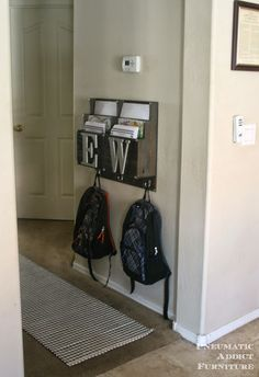 Kids Room Organization Idea - Backpack & homework Center
