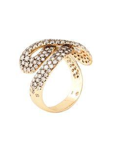 H.Stern 18k Noble Gold Celtic Dunes Diamond Ring at London Jewelers!