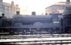 """Ex-C.R. 4-4-0 """"Caley Bogies"""" withdrawn at Perth Sheds in 1963. (C)James Findlay."""