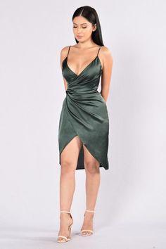 Show Off Dress - Olive. 29.99