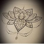 Lotus Flower Mandala Tattoo Designs Ideas