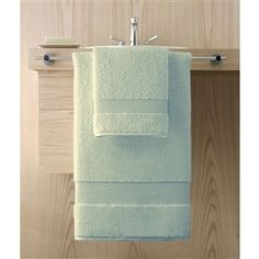 Elegance by Kassatex, 100% Turkish Cotton Bath Towels are soft, plush and absorbent. At 750 gsm, they have a heavy weight luxury feel, but dry 25% faster. Shown: Seafoam Green. Collection starting at $9.95