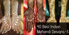 Here are the 40 best Indian Mehandi Designs for you to take inspiration from. Come on in, take a look at these amazing works of love.