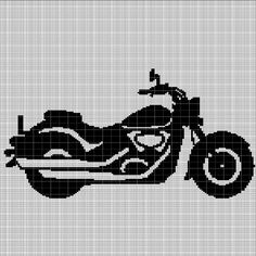 I love this superb harley davidson baggers Crochet Afghans, Filet Crochet, Crochet Stitches, Afghan Crochet Patterns, Cross Stitch Patterns, Harley Davidson, Frozen Crochet, Giraffe Crochet, Custom Harleys