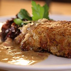 Try this Potato-Crusted Pork with Braised Red Cabbage recipe. This recipe is from the show Hairy Bikers' Best of British.