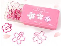 Midori D-Clips - Cherry Blossom Shaped Paper Clips from Hanko Designs
