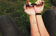triangle tattoo // balance