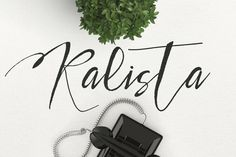 Kalista Typeface by Maulana Creative on @creativemarket. Price $11 #displayfonts #handwrittenfonts #calligraphicfonts