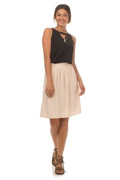 The Mimi Skirt is here and its the only skirt you need this spring! This full, gathered skirt has pockets...