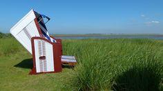 Ein Plätzchen in der Natur - einen schöneren Ausblick aufs weltnaturerbe Wattenmeer kann man kaum haben!