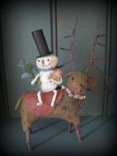 Reindeer Ride Ornament KIT by cheswickcompany by cheswickcompany