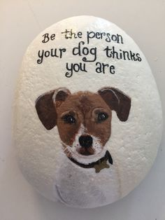 Pebble Painting, Love Painting, Pebble Art, One Stroke Painting, Rock Painting Designs, Pet Rocks, Rock Collection, Rock Design, Dog Paintings