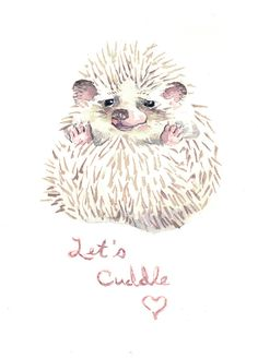 Hedgehog Valentine
