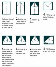 how to make paper airplanes that fly far - Google Search