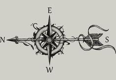 Compass with arrow  Artwork