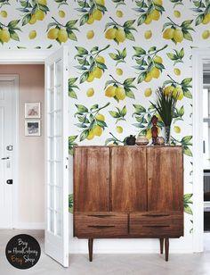 Aquarell Zitrone Hintergrundbilder gelbe von floralCOLORAY auf Etsy
