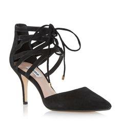 DUNE LADIES CRISTINA - Two Part Lace Up Court Shoe - black | Dune Shoes Online