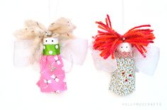 Save those corks! Sweet Wine Cork Fairies are an adorable upcycled homemade toy- so darn cute! | AllFreeKidsCrafts.com