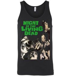Night Of The Living Dead Horror Zombie Splatter George Romero , Canvas Unisex Tank