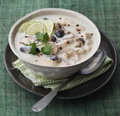 This classic Thai chicken soup is easy to prepare at home.
