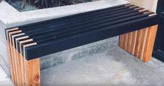 Diy Outdoor Furniture, Garden Furniture, Outdoor Decor, Modern Outdoor Benches, Modern Bench, Patio Bench, Garden Benches, Diy Bench Seat, 2x4 Bench
