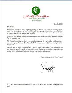 Free Printable North Pole Envelope And Free Printable Santa Letter