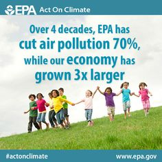 Environment + economy = a win, win. In the last 40+ years we've cut pollution and grown our economy. #ActOnClimate