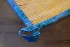 Maryandpatch, How to bind a potholder with a hanging loop
