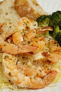 Baked shrimp scampi is a perfect seafood meal when you don't have a lot of time to cook. This shrimp recipe without wine is fast, easy, and delicious!
