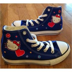 hand-painted hello kitty converse shoes by elizabeth peterson