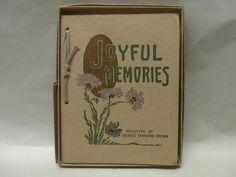 Antique Book of Poetry  Joyful Memories by CatzShinySmiles on Etsy